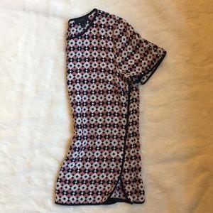 J.Crew Geometric Patterned Silk T-Shirt
